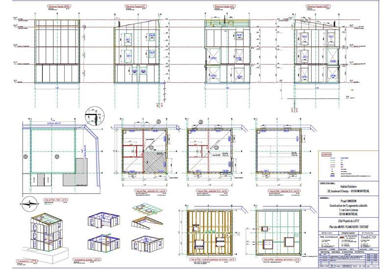 Plan Charpente Bois - TradiCad bureau d'études structures bois Bureau d'études structures bois pour charpentiers et